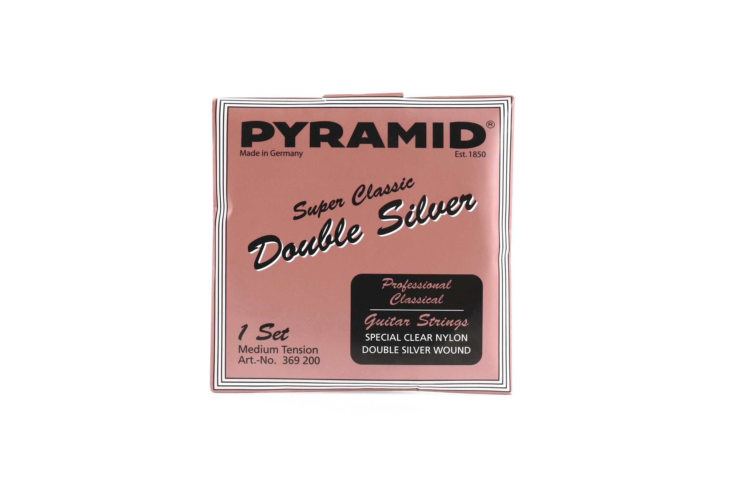 Konzertgitarren Saiten Pyramid Super Classic Double Silver Nylon Normal Tension